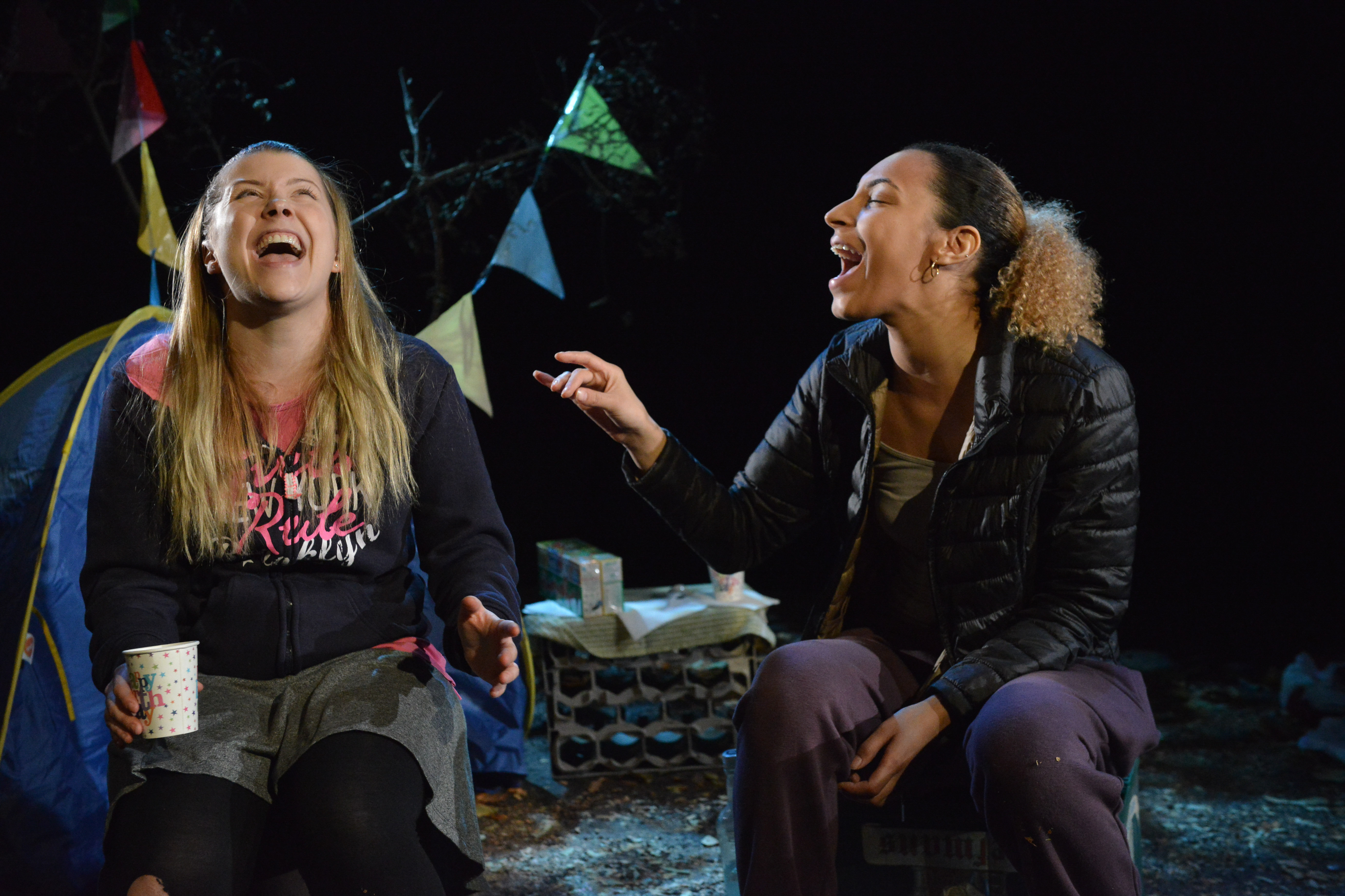 Esther-Grace Button & Tessie Orange-Turner in ALL THE LITTLE LIGHTS by Jane Upton - credit Robert Day